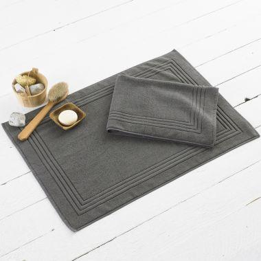 Alford Cotton Bath Mat - Charcoal