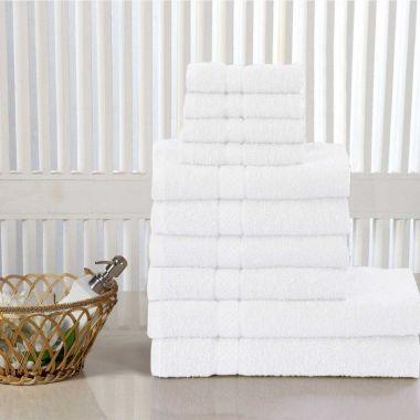 Roso Terry Cotton Towels 10 Pieces Bundle Pack