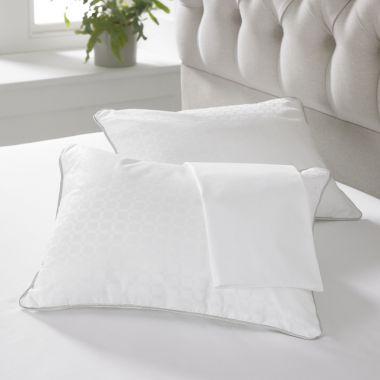 Bingley hollow fibre travel jacquard pillow