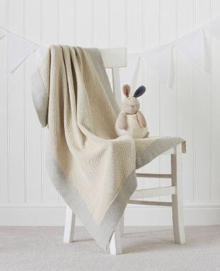 Burnham Knitted Baby Blanket