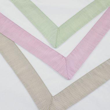 Egyptian Cotton Cambridge Stripe Border Pillowcase Pair
