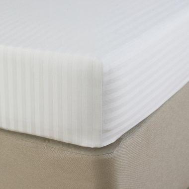 250TC Egyptian Cotton Sateen Stripe Deep Fitted Sheet