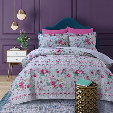 Twighlight Garden Floral Printed Bed Spread Set